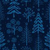 De winter naadloos patroon, seizoenengroeten vector illustratie