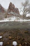 De winter in Nationaal Park Zion Stock Foto's