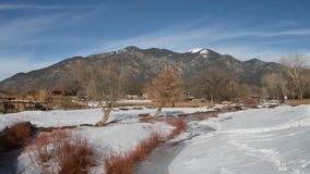 De winter New Mexico stock footage