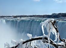 De winter in Niagara Falls Royalty-vrije Stock Foto's