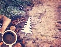 De winter, Nieuwjaar, Kerstmisstilleven Stock Foto