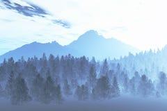 De winter Noordelijke Nacht 2 vector illustratie