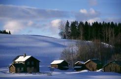 De winter in Noorwegen Royalty-vrije Stock Foto