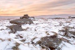 De winter op belstonepiek Dartmoor royalty-vrije stock afbeeldingen