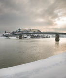 De winter op de Rivier Royalty-vrije Stock Afbeeldingen