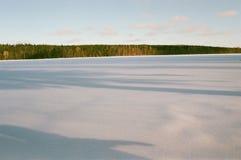 De winter op het meer royalty-vrije stock afbeeldingen