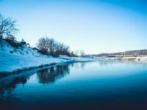De winter op het meer Stock Fotografie