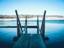 De winter op het meer Royalty-vrije Stock Foto's