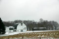 De winter op Landbouwbedrijf Royalty-vrije Stock Afbeeldingen
