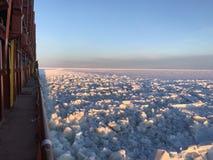 de winter op zee Golf van Bothnia stock afbeeldingen