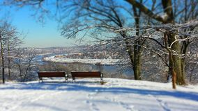 De winter overziet Stock Foto