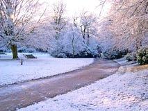 De winter in Padiham Lancashire Royalty-vrije Stock Afbeelding