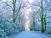 De winter in Padiham Lancashire Royalty-vrije Stock Afbeeldingen