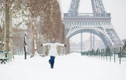 De winter in Parijs Royalty-vrije Stock Foto