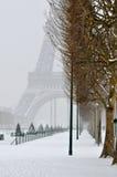 De winter in Parijs royalty-vrije stock foto's