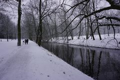 De winter in Park 12 Stock Afbeelding