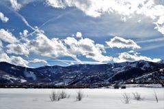 De winter - Parkstad - Utah Stock Afbeeldingen