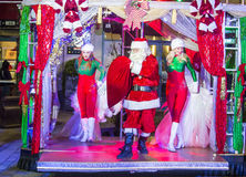 De winter parq toont in Linq Las Vegas Stock Foto's