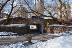 De winter Pedway Stock Foto's