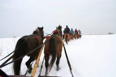 De winter in Polen Royalty-vrije Stock Foto's
