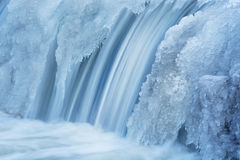 De winter, Portage-Kreekcascade Royalty-vrije Stock Foto's