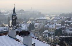 De winter in Praag royalty-vrije stock afbeeldingen