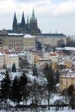 De winter Praag Stock Afbeeldingen