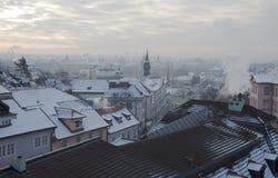 De winter in Praag royalty-vrije stock foto's