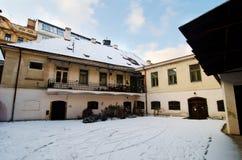 De winter in Praag royalty-vrije stock foto