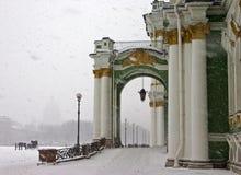 De winter in retro stijl Royalty-vrije Stock Afbeeldingen