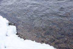 De winter rive Royalty-vrije Stock Foto