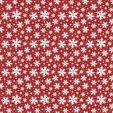 De winter rood naadloos patroon met sneeuwvlokken royalty-vrije illustratie