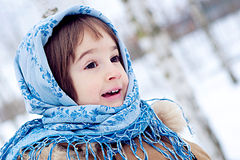 De winter in Rusland Stock Foto