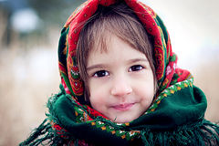 De winter in Rusland Stock Afbeelding