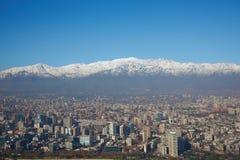 De winter in Santiago stock fotografie