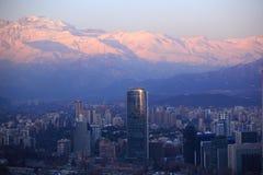 De winter in Santiago Stock Afbeelding