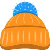 De winter Seizoengebonden Hoed Vector illustratie Stock Afbeeldingen
