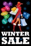 De winter seizoengebonden verkoop Stock Afbeeldingen