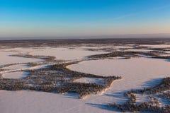 De winter Siberië Royalty-vrije Stock Afbeeldingen