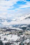 De winter in Slechte Gastein Royalty-vrije Stock Afbeelding