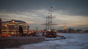 De winter in St. Petersburg Stock Foto