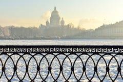 De winter in St. Petersburg, Rusland Stock Fotografie
