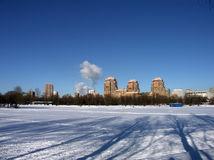 De winter in stad royalty-vrije stock foto's