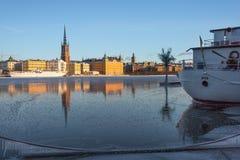De winter in Stockholm, Zweden, Europa royalty-vrije stock foto's