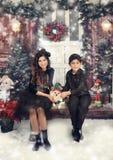 De winter in studio Stock Fotografie