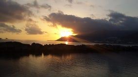 De winter sunsets Royalty-vrije Stock Foto