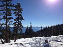 De winter in Tahoe Royalty-vrije Stock Afbeelding