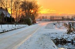 De winter toneel Royalty-vrije Stock Afbeeldingen