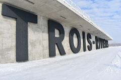 De winter in Trois Rivieres royalty-vrije stock foto's
