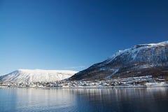 De winter in Tromsoe, Noorwegen Stock Fotografie